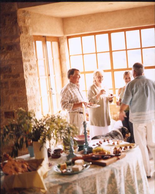Rice Family Brunch in the Villa, 2007