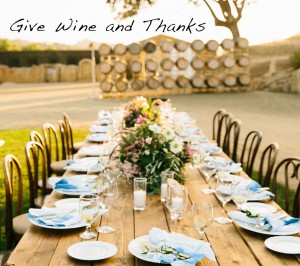 Give Wine and Thanks eMail Header