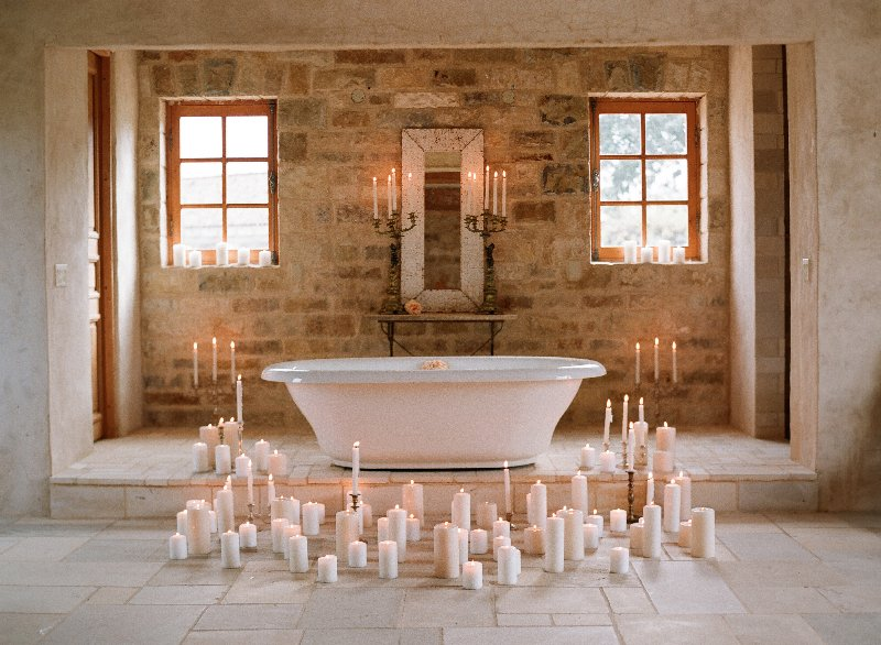 Candle Lit Bathroom