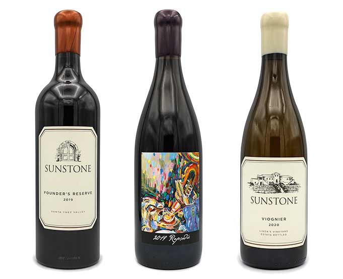 Sunstone founders reserve raphsodie and viognier