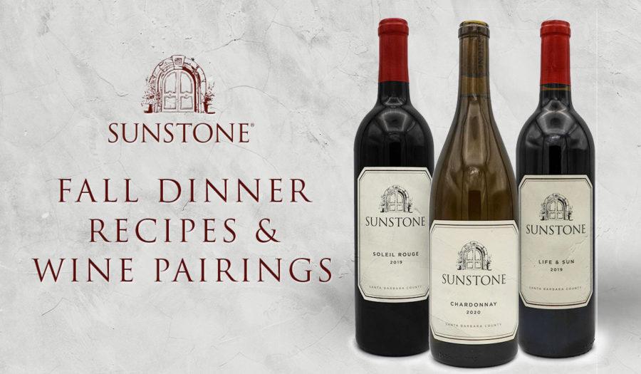 Fall Dinner Trio: 3 Courses of Recipes & Wine Pairings!
